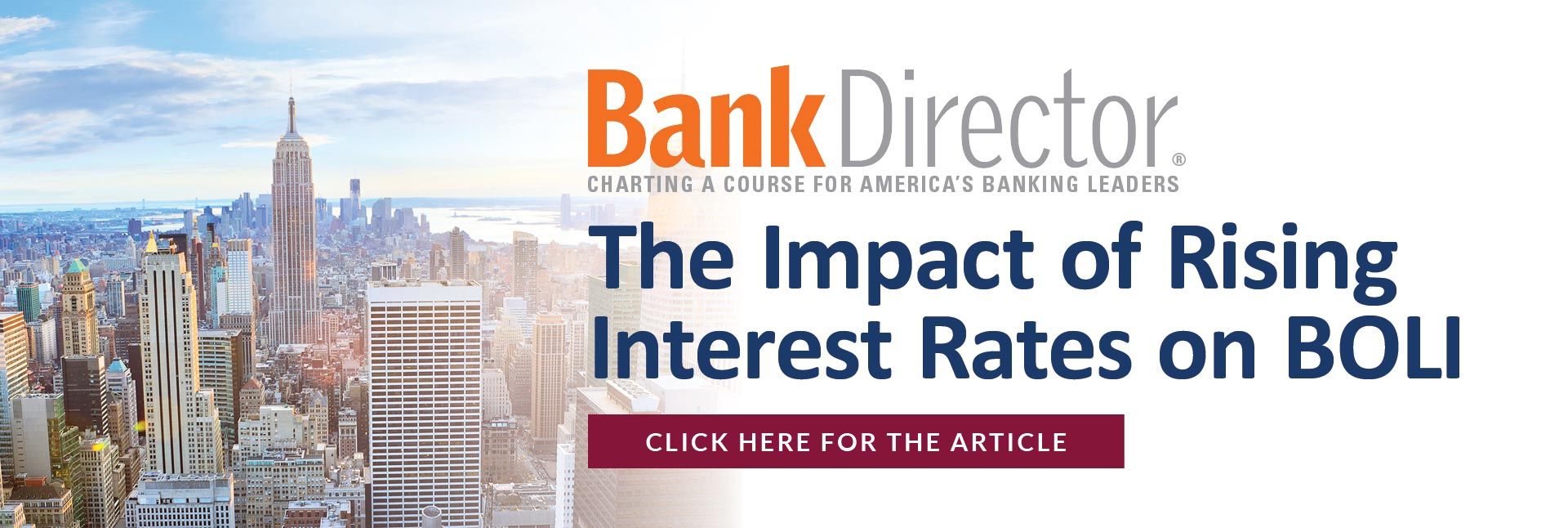 Bank Director - The Impact of Rising Interest Rates on BOLI